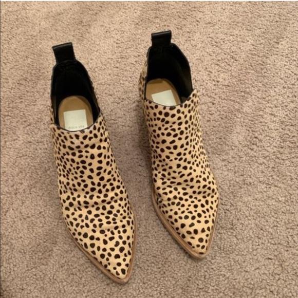 dolce vita leopard boots